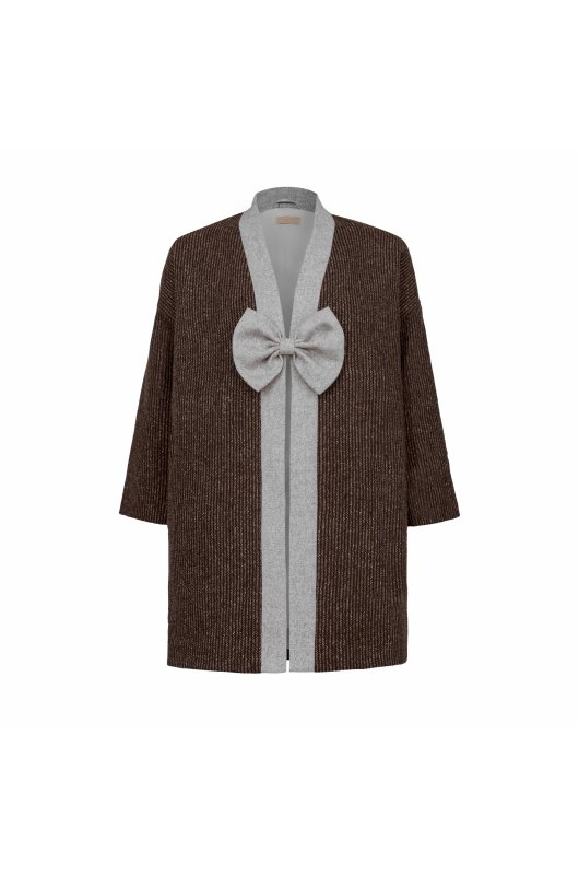 FLEECE LINED WOOLEN CARDIGAN